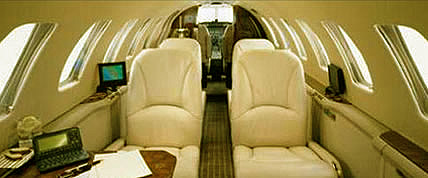 Interior de la Encore Cita Private Jet
