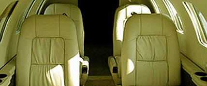 Interior de la Private Jet Citation II