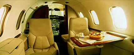 Interior de la Jet 31A Learjet privado